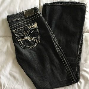 Silver Bootcut Jeans. Size 29